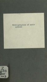 Bibliographies of modern authors no. 3_cover