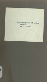 Bibliographies of modern authors no. 1_cover