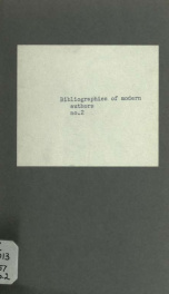 Bibliographies of modern authors no. 2_cover