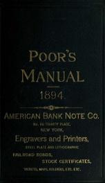 Poor's manual of railroads 27_cover