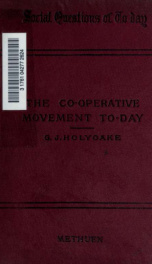 The co-operative movement to-day_cover