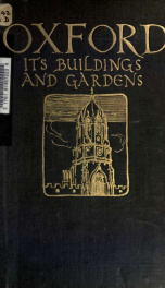 Oxford, its buildings and gardens_cover