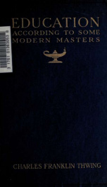 Education according to some modern masters_cover