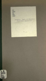 Text-book regulations for public, separate, continuation and high schools and collegiate institutes May 1920. Printed by order of the Legislative assembly of Ontario_cover