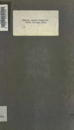Huron village sites : being an appendix to the report of the Minister of Education for the year 1906_cover