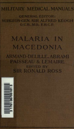 Malaria in Macedonia, clinical and haematological features and principles of treatment_cover