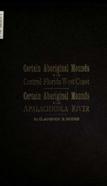 Certain antiquities of the Florida west-coast_cover