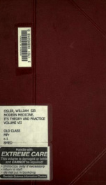 Modern medicine, its theory and practice, in original contributions by American and foreign authors; 7_cover