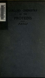 Colloid chemistry of the proteins; 1_cover