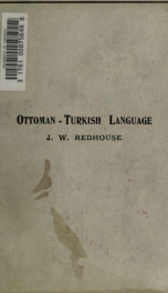 A simplified grammar of the Ottoman-Turkish language_cover