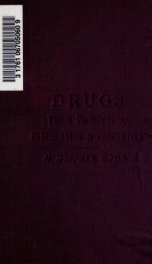 Drugs, their production, preparation, and properties_cover