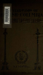 The Year book of British Columbia and manual of provincial information_cover