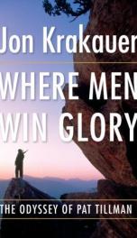 Where Men Win Glory  _cover