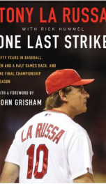 One Last Strike Fifty Years in Baseball  _cover